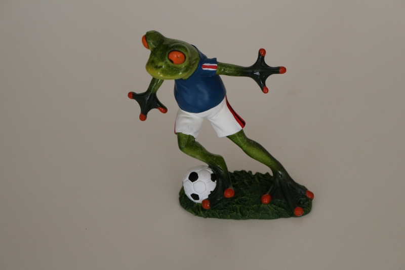 Fußball-Frosch aus Kunstharz