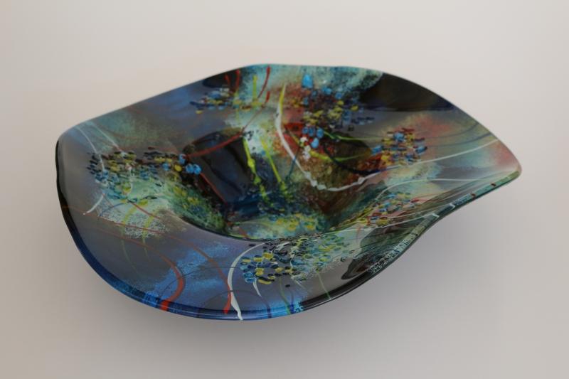 Glasschale in blau