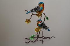 Vogelpaar aus Metall