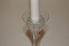 Abtropfschale gezackter Rand für Kerzenleuchter